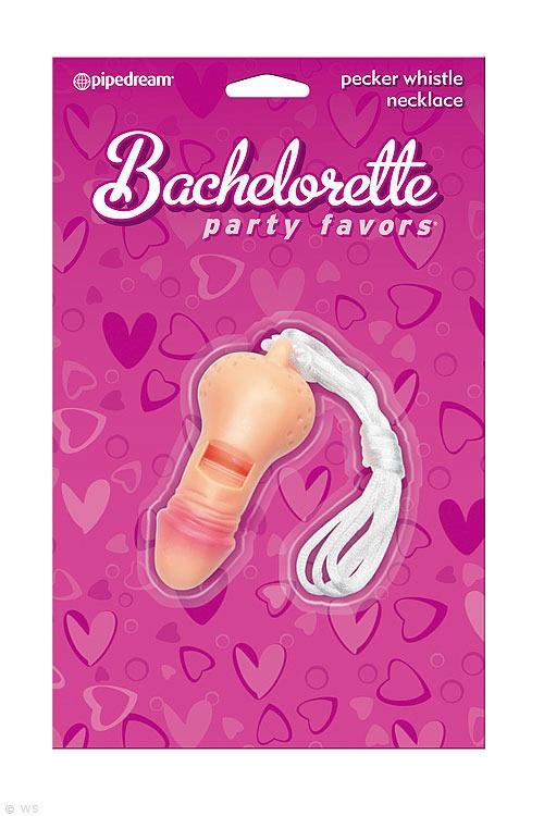 Pipedream Bachelorette Party Pecker Whistle Necklace