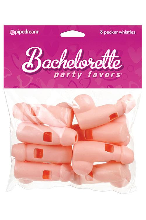 Pipedream Bachelorette Party Pecker Whistles (8 Pack)