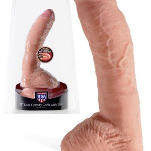 "Pipedream Dual Density 10"" Realistic Cock & Balls with Suction Cup"