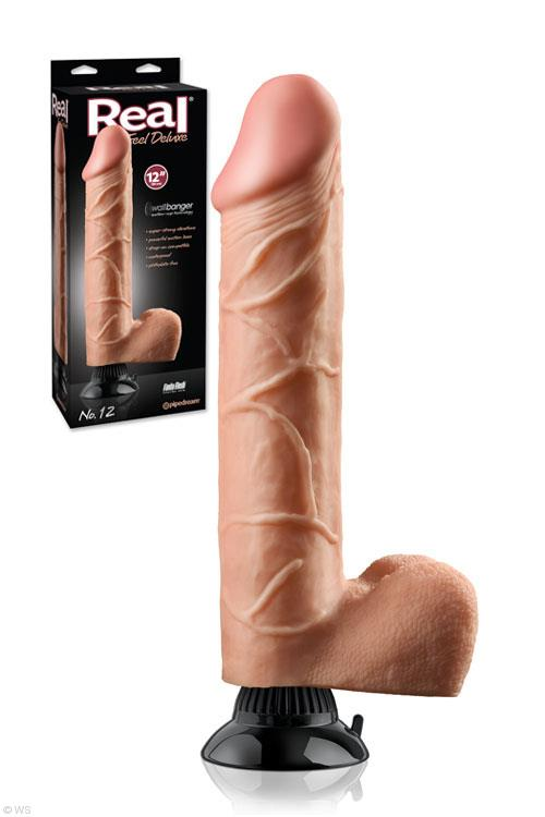 "Pipedream Real Feel Deluxe 12"" Vibrator"