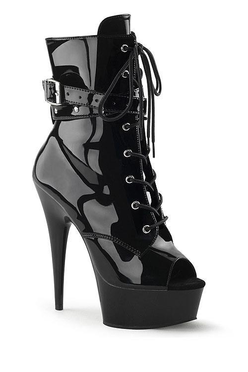 """Pleaser 6"""" Heel Delight Patent Bootie"""