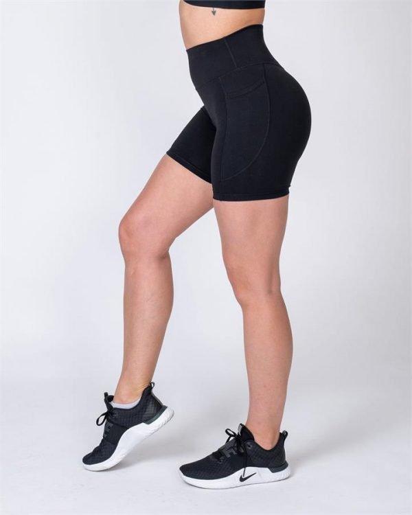 Pocket Bike Shorts - Black - S