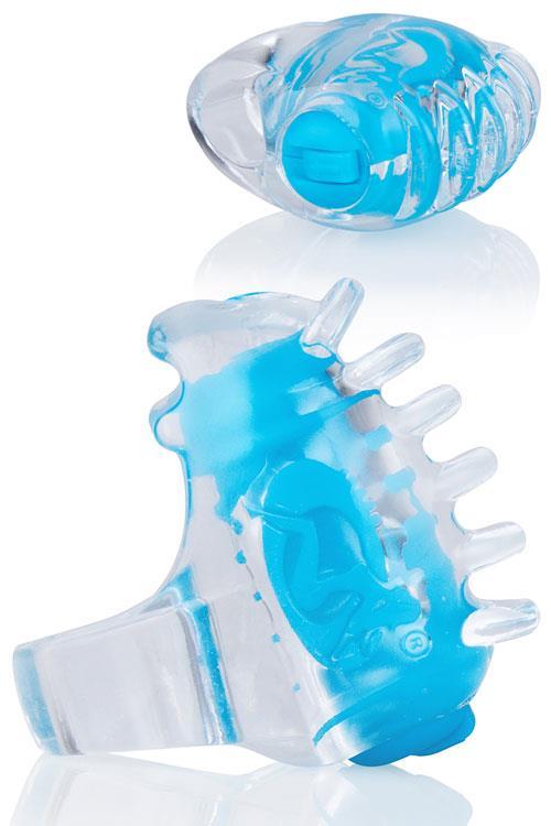 """Screaming O ColorPop FingO Tips Textured Fingertip 1.4"""" Vibrator"""