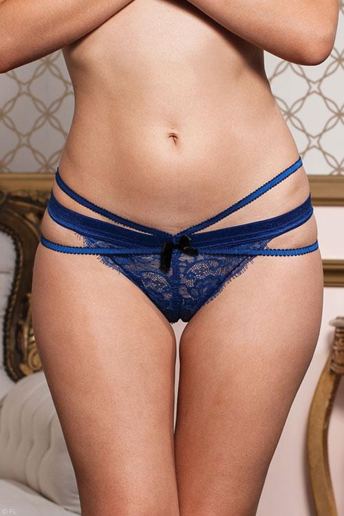 Seven Til Midnight Eyelash Lace Strappy Panty
