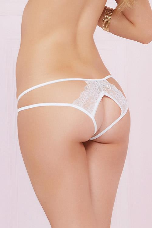 Seven Til Midnight White Lace & Straps Panty