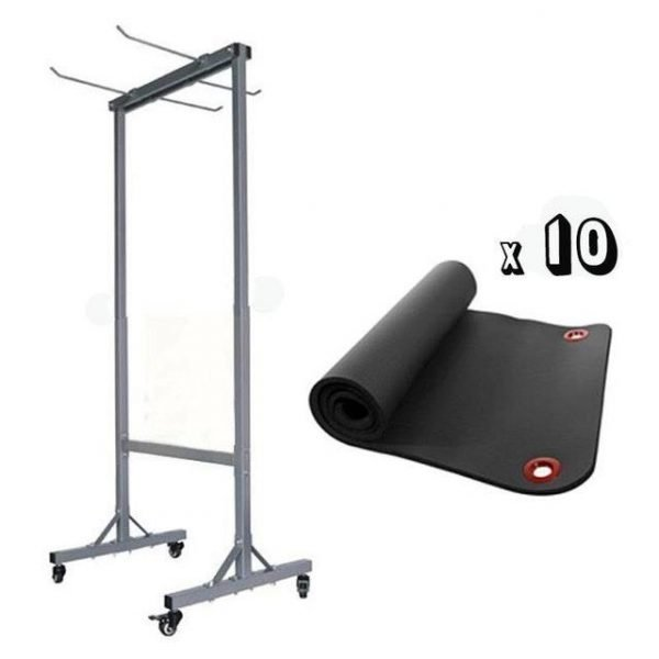 Storage Rack with 10x Hanging Mats (Package Price)