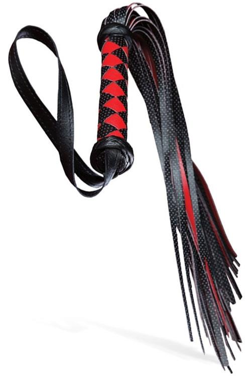 Adam and Eve Vegan Leather Diamond-Patterned Flogger
