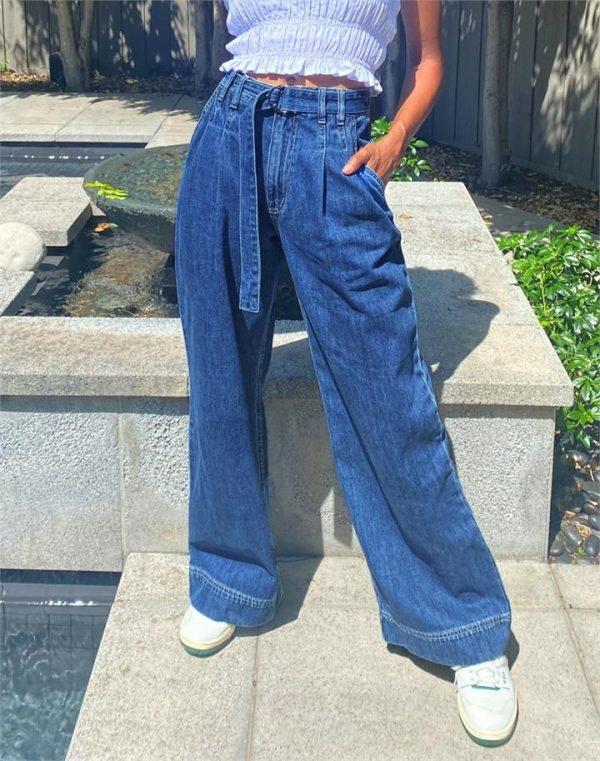 Belted Wide Leg Jean