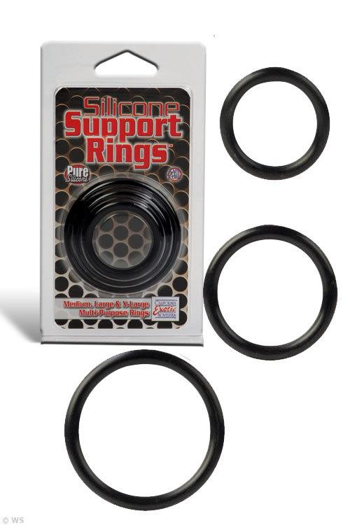 California Exotic Silicone Support Cock Ring Pack