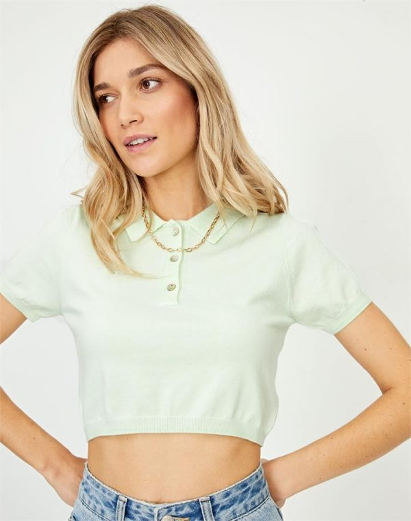 Cropped Polo Top