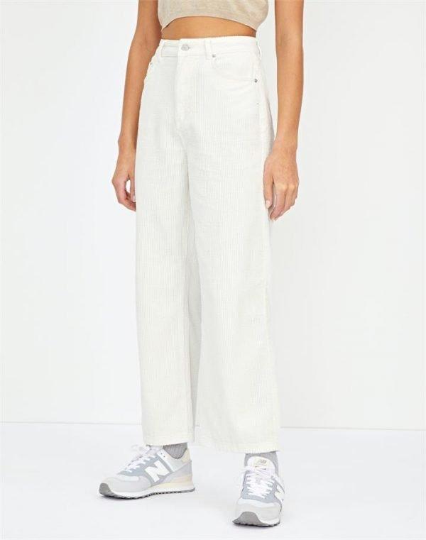 Cropped Wide Leg Cord Pant
