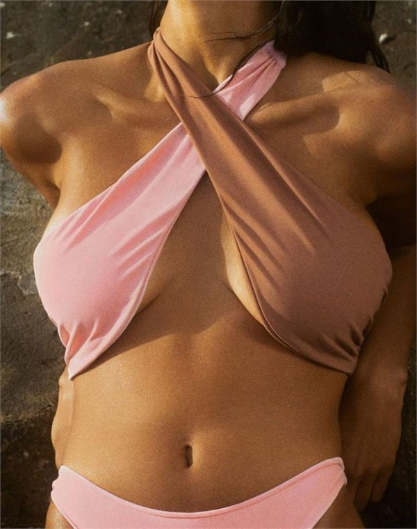 Cross-Over Halter Bikini Top