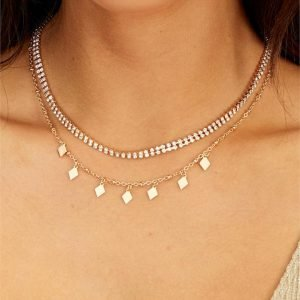 Diamante Choker Necklace Pack