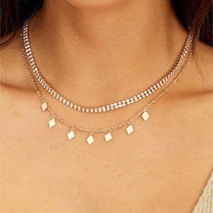 Diamante Choker Necklace Pack