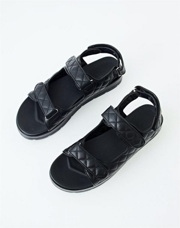 Double Strap Quilted Sandal
