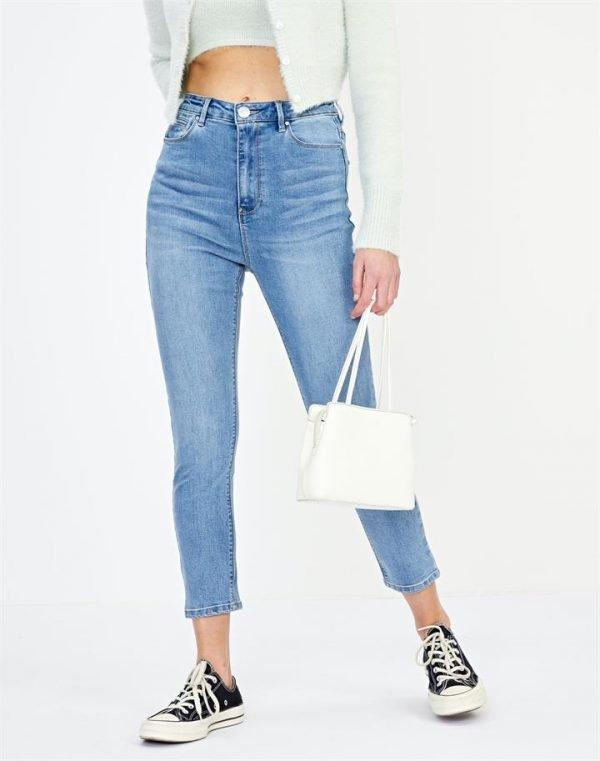 High Waist Cropped Jean