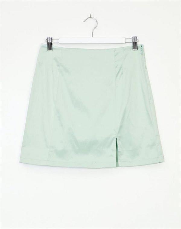 High Waist Satin Skirt