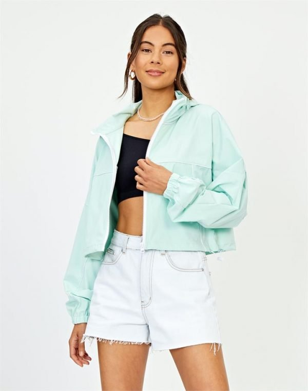 Lightweight Piped Cropped Jacket