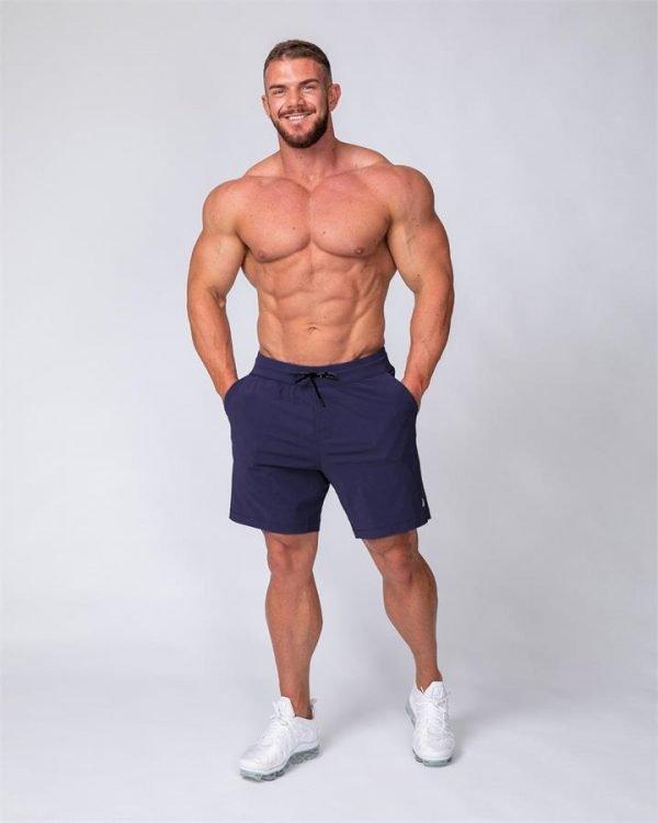 Mens Training Shorts - Navy - L