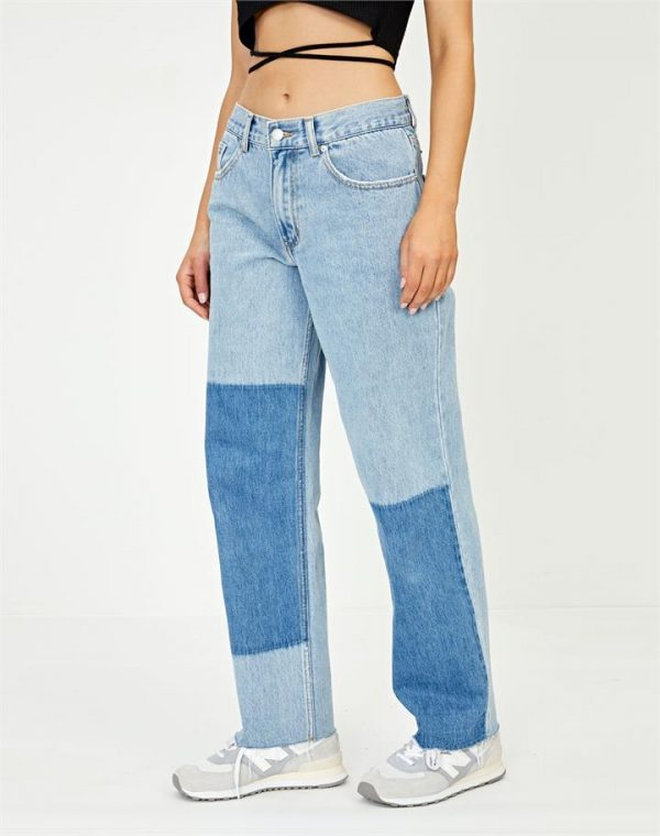 Ombre Panel Straight Jean