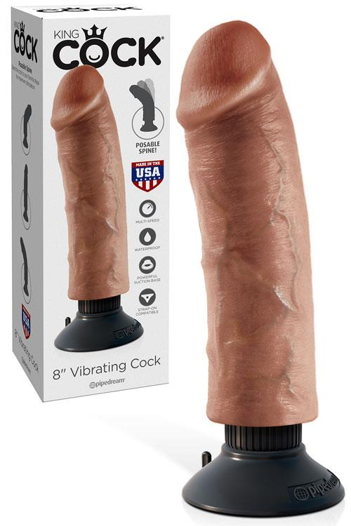 "Pipedream Vibrating Bendable 8"" Dong with Removable Suction Cup"