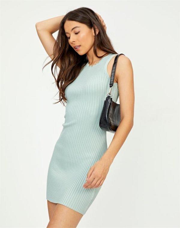 Rib Knit Bodycon Mini Dress