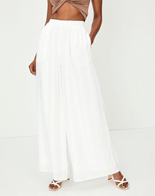 Satin Wide Leg Dress Pant