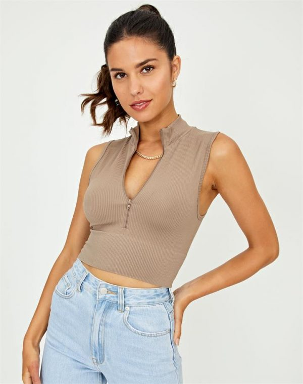 Seamless Cropped Vest Top