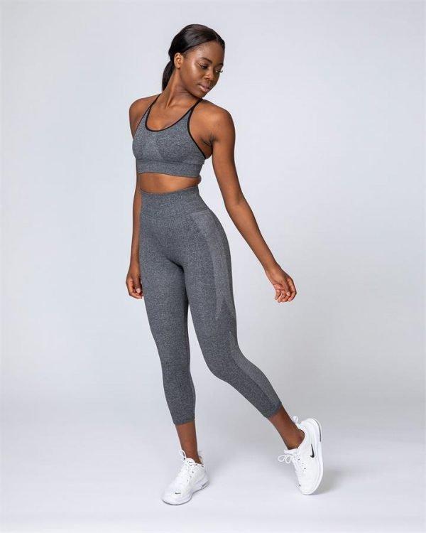 Shape Up Seamless 7/8 Leggings - Charcoal Marl - XL