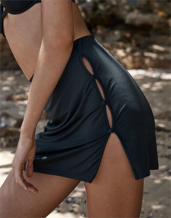 Split Side Seam Mini Skirt