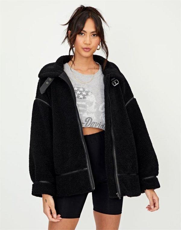 Teddy Buckle Oversized Coat