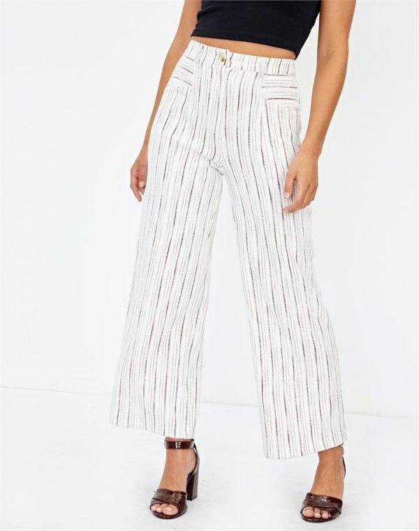 Textured Stripe Pant